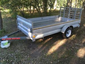 10 by 5 wide galvanized utility trailer