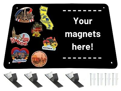 Black Metal Magnet Board - 17.5 X 11.5 X 132 Magnetic Wall Sheet For Magnets