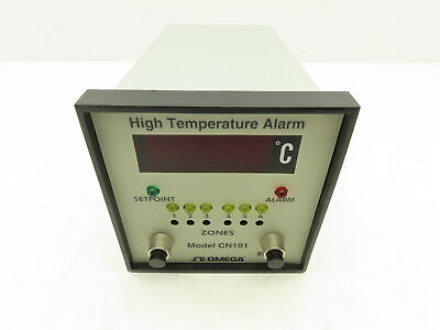 Omega Cn101 High Temperature Alarm Monitor 6-channel Type K-500c Cn100 Series