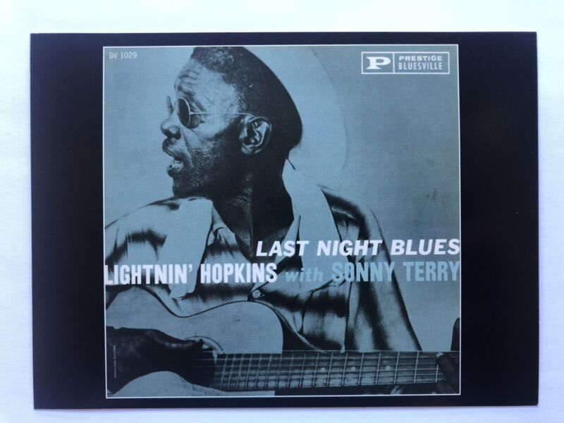 Classic Blues Music album Covers Postcard Lightning Hopkins with Sonny Terry