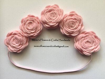 Felt Flower Crown , Baby Headband, Newborn Toddler Baby Headband, Handmade ](Felt Flower Crown)