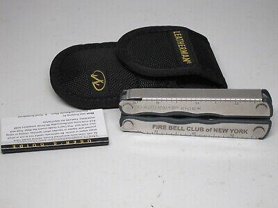NEW Collectible Leatherman KICK Rare Fire Bell Club of NY FDNY Nylon Sheath Buff Kick Nylon Sheath