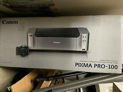 Canon PIXMA PRO-100 Digital Photo Inkjet Printer BRAND NEW IN BOX with PAPER