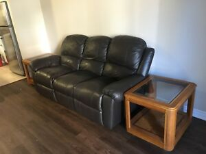 Real leather couch (reclining!!!)