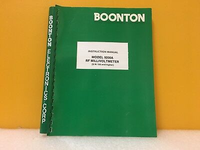 Boonton 982011-01 9200a Rf Millivoltmeter Instruction Manual