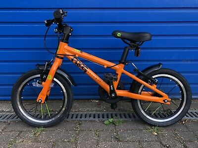 Frog 43 Bike Orange 14 Inch Wheels - On and Off Road Tyres and Spare Inner Tubes