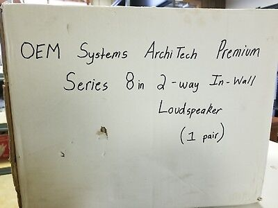 2 Way Premium Series (OEM systems archi Tech Premium Series 8in 2-way In-Wall Speakers )