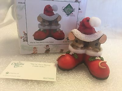 "Charming Tails ""We're Two Merry Little Soles"" DEAN GRIFF NIB ORNAMENT"