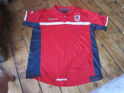 NRL St George Illawarra Dragons ISC Polo Shirt Red Men's L Large Rugby League