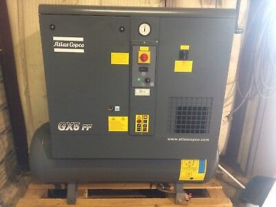 2019 Atlas Copco Gx5ff Rotary Screw Air Compressor With Dryer