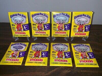 GARBAGE PAIL KIDS 4th series lot of 8 sealed w gum 🔥 HOT!!!!