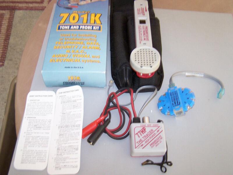 701K Progressive 200EP 77HP Tracer Tone & Probe Kit + MODAPT 8Conduc NEW BATTS*