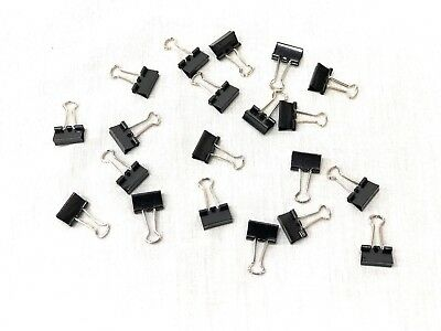 20 Pieces Small Binder Clips Steel Wire Office Paper Clips