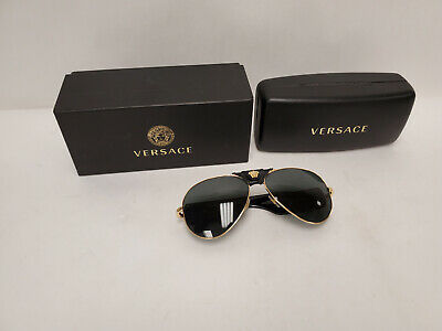 VERSACE VE2150Q 1002/87 Gold Gray 62 mm Men's Sunglasses P9L165449A