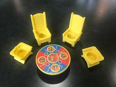 Vintage Fisher Price LP Castle Thrones and Table #993 - Excellent Condition