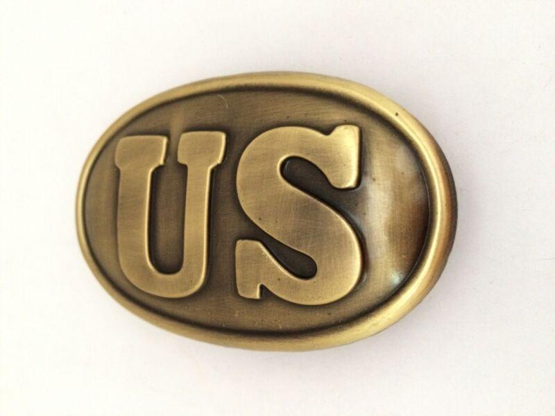 CIVIL WAR U.S. UNION WAIST BELT BUCKLE REPLICA NEW  3.25 INCHS  BAGGED 77044