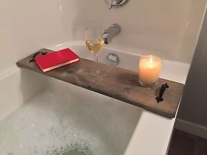 Bath Board/Caddy, 100 Solid Wood, Perfect Valentines Gift!