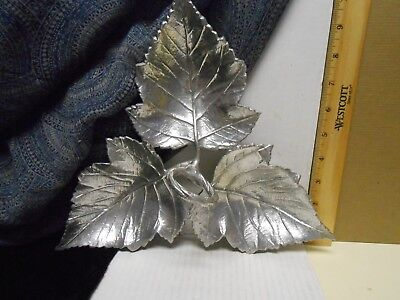 Martha Stewart Collection Metal Leaf Dish Three Compartments