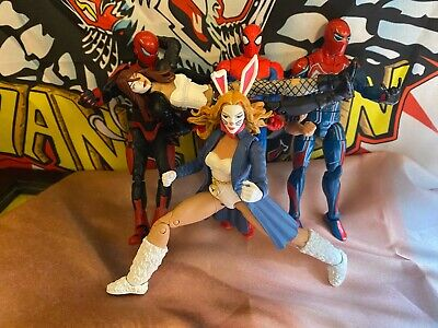 marvel legends lot, Typhoid Mary, White Rabbit, Spider Armor, Velocity suit