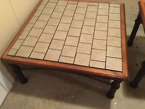Tile top tables 2, coffee style