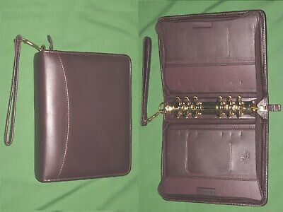 Compact 1.5 Brown Full Grain Leather Franklin Covey Quest Planner Binder