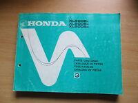 Parti Catalogo Quota Catalogo Honda Xl 500 S 1979-1981 Catalogo De Piezas - honda - ebay.it