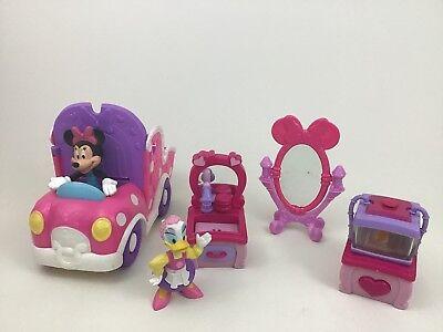 Minnie Bowtique Toys (Minnie Mouse Bowtique Clubhouse Van Toy Figure Daisy Disney Lot 6pc)