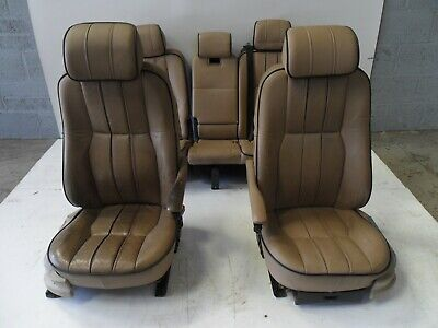 RANGE ROVER L322 SET OF 5 TAN ELECTRIC LEATHER SEATS 2002 - 2006