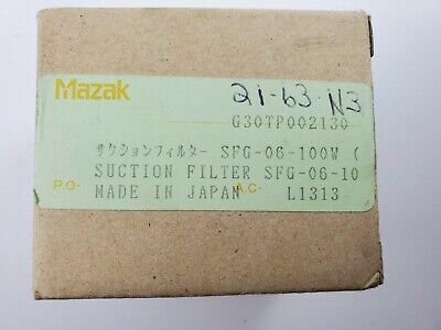 Mazak Suction Filter Sfg-06-100w New Old Stock