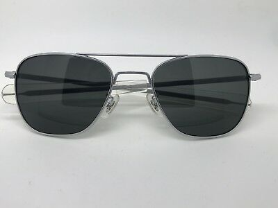 1991 Vintage Randolph Engineering matte chrome vs silver Aviator Sunglasses (Randolph Aviator 52mm Sunglasses)