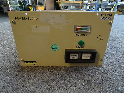 Pfeiffer Tcp 270 Vacuum Turbo Pump Power Supply Controller Hv