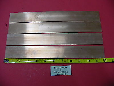 4 Pieces 18x 1-12 C110 Copper Bar 12 Long Solid Flat Mill Bus Bar Stock H02