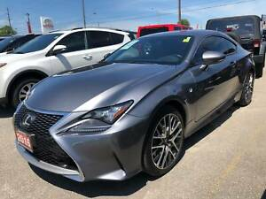 2016 Lexus RC 350 AWD, Navi, Tinted Windows, Red Leather Interio