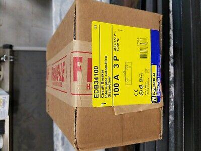 Square D Edb34100 3pole 100amp 480v Circuit Breaker New Nf Panels