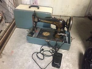 Old fashioned sewing machine