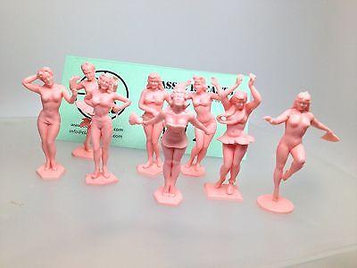 Marx Toys Set of 8 Pink Bathing Beauties   !!!  FREE SHIPPING  !!!