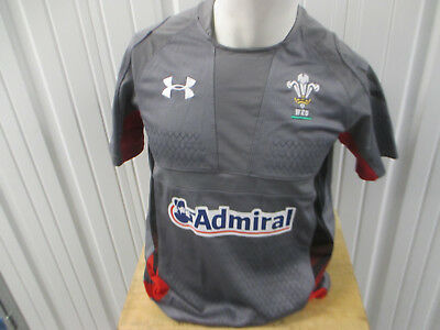 Used, VINTAGE UNDER ARMOUR WALES UNION RUGBY POLO MEDIUM SEWN TEST GREY JERSEY for sale  Shipping to Canada