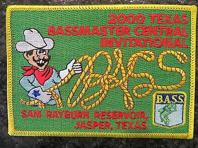 Rare Vintage Bassmaster Tournament Patch 2000 Texas Central Invitational