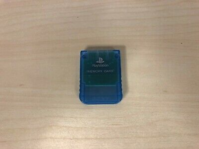 Clear Memory - Sony PlayStation Blue Clear Memory Card Official Original 8mb