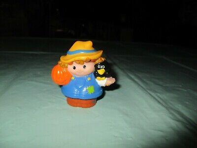 Fisher Price Little People Halloween Harvest Farmer Scarecrow Crow Pumpkin