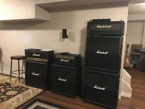 Amps and recording equipment  and mics