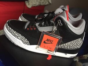 Air Jordan Black Cement 3, size 9.5