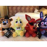 *RARE* Set Of 4 Plush Five Nights At Freddy's FNAF Freddy Foxy Chica Bonnie Toy