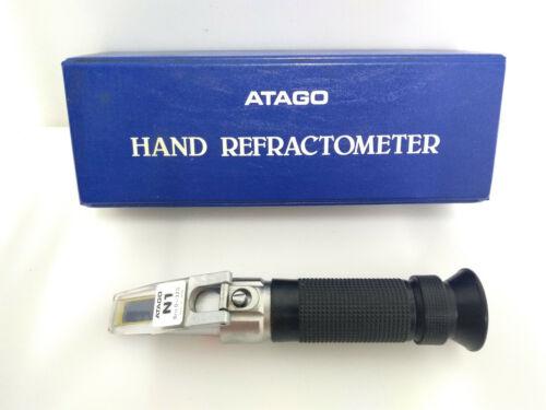 Atago Hand Refractometer N1 Brix 0-32% Nice Case, Instructions