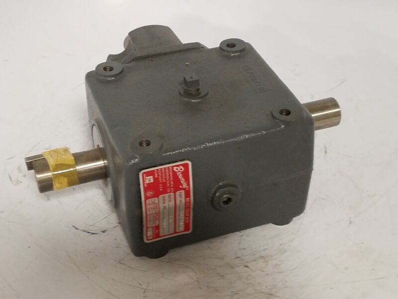 """NEW Browning 9HB1-LR20 Bevel Gear Drive Speed Reducer 1"""" Shaft 2:1 Ratio GearBox"""