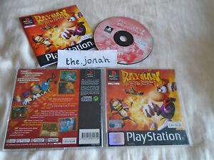 Rayman Rush PS1 (COMPLETE) Sony PlayStation platform racing rare black label