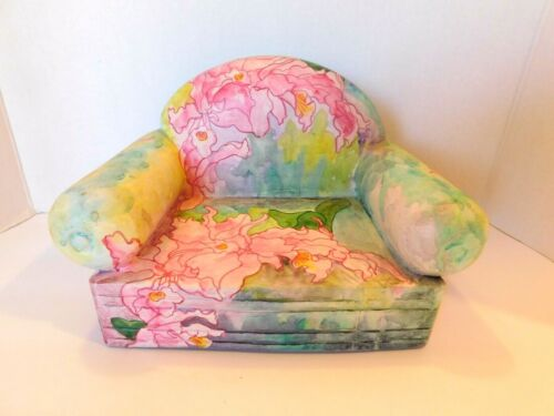 Poupee Millet Vintage Ceramic Floral Doll Chair Original Signed EUC!