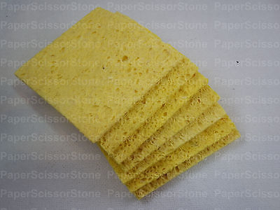 10pcs Solder Soldering Iron Tip Welding Cleaning Sponge Pad For 936 60mm X 60mm