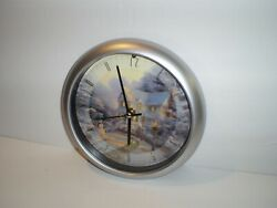 Used 8 The Night Before Christmas Caroling Wall Clock By Thomas Kinkade 2004