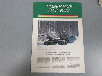 Timberjack Fmg 933c Clambunk Sales Sheet 2 Pages